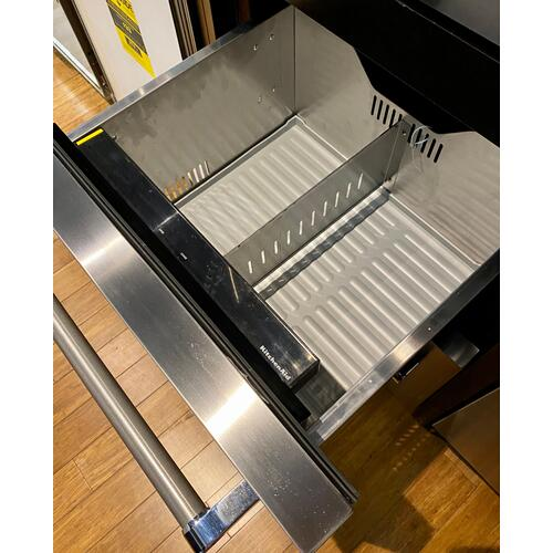 "KitchenAid - KitchenAid KUDR204ESB   24"" Stainless Steel Double Refrigerator Drawer Stainless Steel"