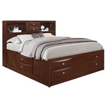Linda King Storage Bed Merlot