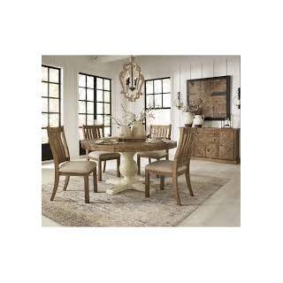 Grindleburg 5 Piece Round Dining Room Set