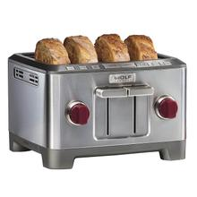 Wolf Gourmet 4 Slice Toaster, WGTR104S, Red