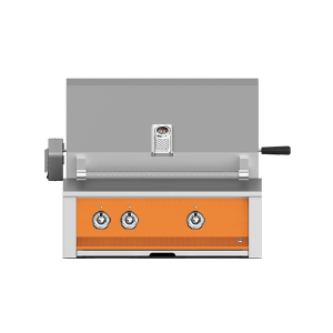 "Aspire By Hestan 30"" Built-In U-Burner, Rotisserie Grill NG Citra Orange"