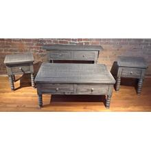JM-CEN 7    Coffee Table, Sofa Table & End Table - Gray Spindle Leg