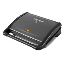 George Foreman GRV120GM 8-Serving Classic Plate Grill, Gun Metal
