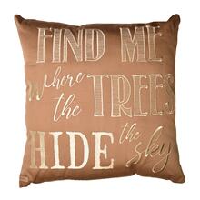 "Maple Leaf ""Find Me"" Throw Pillow"