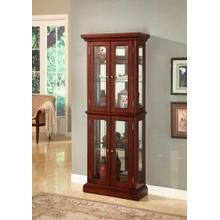 JGW FURNITURE C106 Cherry Double Door Curio