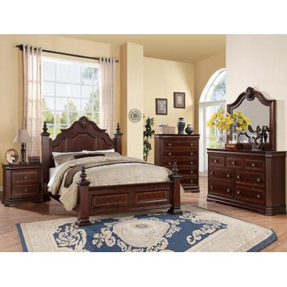 Charlotte Queen Bed, Dresser, Mirror, Nightstand, and Chest