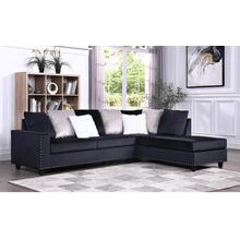 Cindy - Reversible Sectional - Black