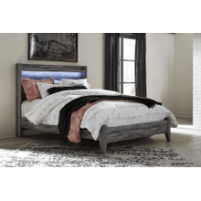 Baystorm- Gray- Queen Panel Bed