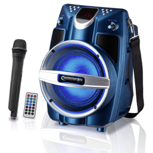 WASP550LUBT Rechargeable Battery Powered Bluetooth PA System with Wireless Mic