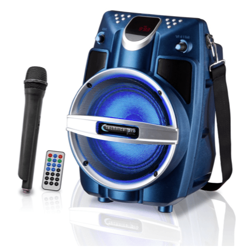 Technical Pro - WASP550LUBT Rechargeable Battery Powered Bluetooth PA System with Wireless Mic