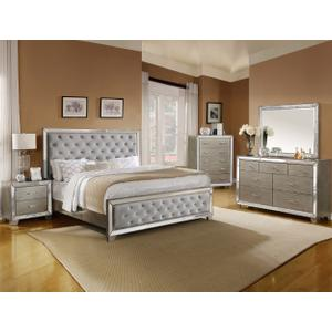 CrownMark 4 Pc Queen Bedroom Set, Cosette B7680