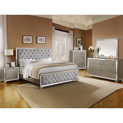 CrownMark 4 Pc Queen Bedroom Set, Cosette B7680