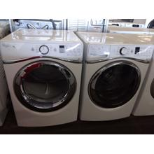 Refurbished Whirlpool Duet STEAM White Front Load Washer Dryer Set. Please call store if you would like additional pictures. This set carries our 6 month warranty, MANUFACTURER WARRANTY AND REBATES ARE NOT VALID (Sold only as a set)