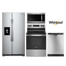 Whirlpool 4 Piece Kitchen Package in Stainless Steel