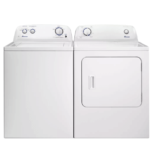 AMANA 3.5 cu. ft. Top-Load Washer w/ Dual Action Agitator & 6.5 cu. ft. Electric Dryer w/ Wrinkle Protection