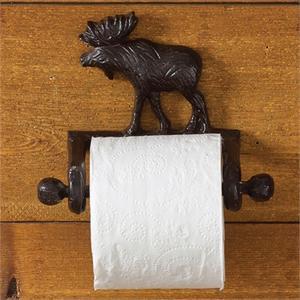 Cast Moose Toilet Tissue Holder