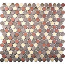 "See Details - AMETHYST Round Mosaic 11x113/4"""