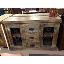 See Details - Reclaimed Wood Cabinet