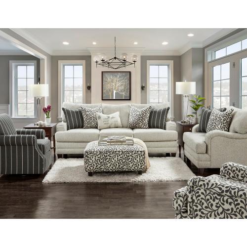 Fusion Furniture - BB4480  Sofa, Loveseat, Swivel Chair and Ottoman - Basic Berber