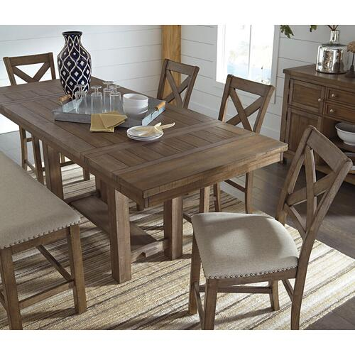 Ashley Furniture - Moriville 5 Piece Counter Height Dining Group