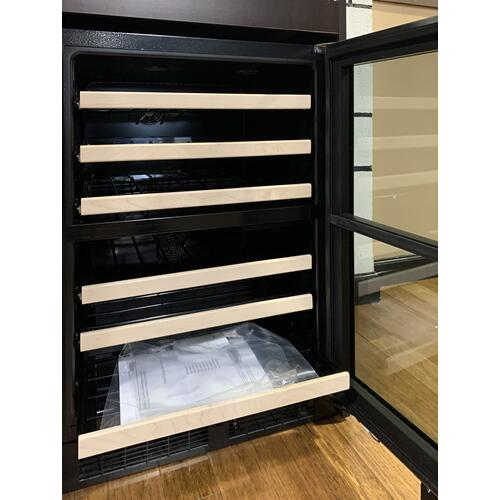 Marvel - Marvel ML24WDG3RS     24-In Built-In High Efficiency Dual Zone Wine Refrigerator with Door Style - Stainless Steel Frame Glass, Door Swing - Right