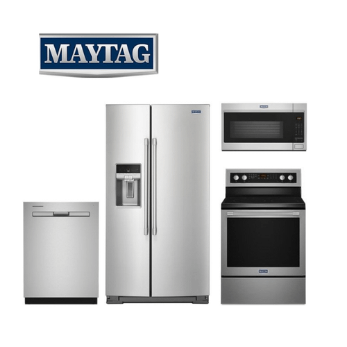 View Product - Maytag 4 Piece Stainless Steel Kitchen Package