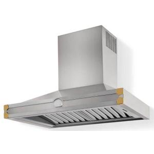Lacornue Cornufe - Stainless Steel Albertine 90 Hood with Polished Brass Accents