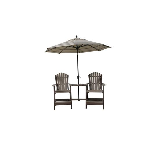 "Balcony Chair set W/Attached Table (optional) ""umbrella not included"""