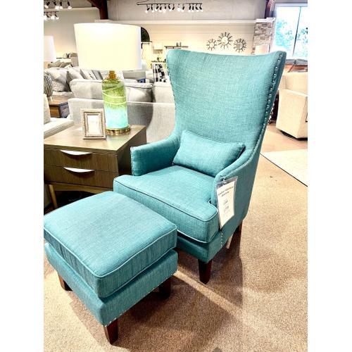 Elements - Heirloom Aqua Chair & Ottoman