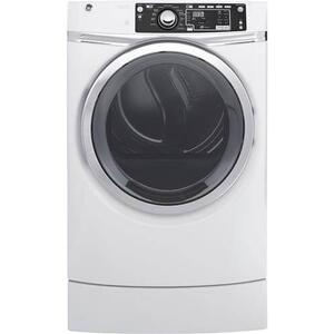 GE 8.3CF White Front Load Electric Dryer