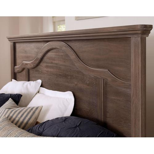 Vaughan-Bassett - Queen Bungalow Mantel Storage Bed - Folkstone Finish