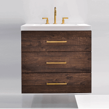 """Product Image - Riva 30"""" wall-hung vanity in ebrano textured wood"""