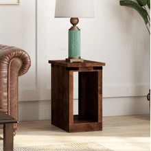 View Product - Farmhouse Chairside Table in a Rustic Aged Whiskey finish     (FH4410-AWY,53048)