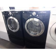Refurbished Black LG Front Load Washer Dryer Set On Pedestals Please call store if you would like additional pictures. This set carries our 6 month warranty, MANUFACTURER WARRANTY AND REBATES ARE NOT VALID (Sold only as a set)