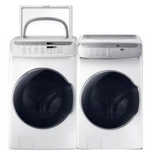 See Details - SAMSUNG 5.5 cu. ft. Smart Washer with FlexWash & 7.5 cu. ft. Smart Electric Dryer with FlexDry- Minor Case Imperfections