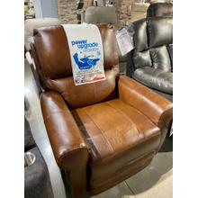 Top Grain Leather Swivel Glider Recliner