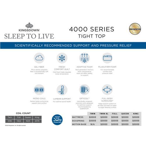Sleep To Live Collection - 4000 Series