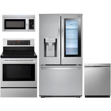 LG Stainless Steel Package with Scratch and Dent Refrigerator (Refrigerator, Electric Range, Dishwasher, Microhood)