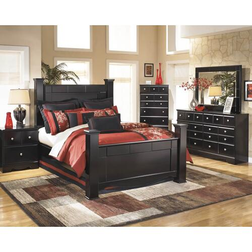 Kirk Queen Bed Dresser Mirror Chest and Night Stand
