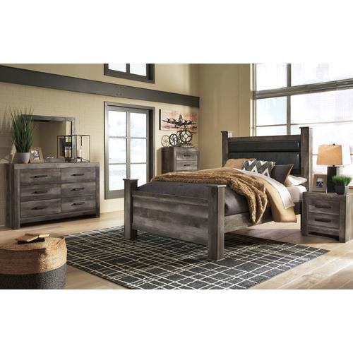 Wynnlow - Rustic Gray 6 Piece Bedroom Set