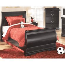 Huey Vineyard - Black - Twin Sleigh Bed