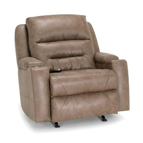 Power Recline/Power Headrest/Power Lumbar Rocker Recliner w/Wand/Lighted Cupholders/Dual Arm Storage/Puck QI Charging