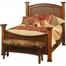 Sonora Collection- Leather Panel Bed