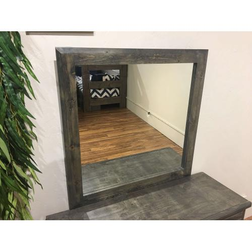 Dresser Mirror Rustic Grey
