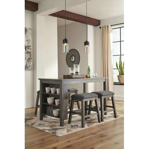Caitbrook - Antiqued Gray 5 Piece Dining Room Set