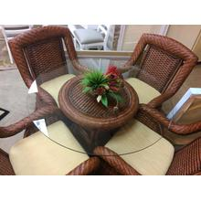 See Details - CLEARANCE South Seas Rattan Table and Chairs