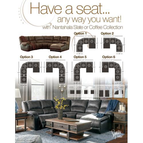 Nantahala 4PC Manual Reclining Sofa W/Chaise