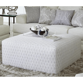 Zeller Cocktail Ottoman Patterned Cream