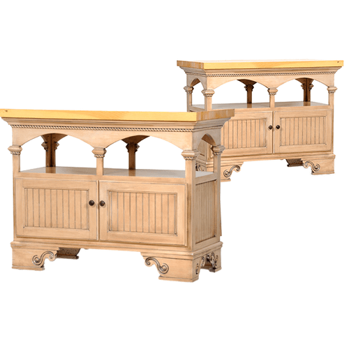 Poplar Kitchen Island with Choice of Top