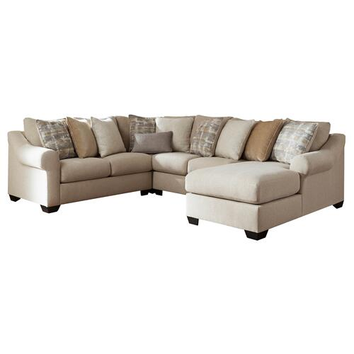 Ingleside - Linen - 4-Piece Sectional with Right Facing Chaise